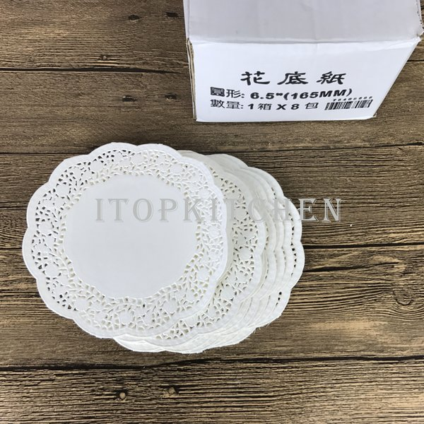 2 packets(140 Pcs*2 )6.5inch 165mm White Round Lace Paper Doilies Doyleys,Vintage Coasters Placemat Craft Wedding Christmas Table Decoration
