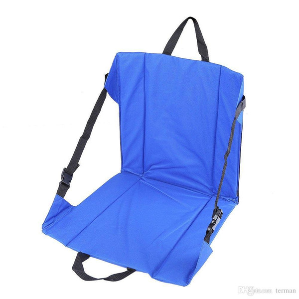Wholesale-Lightweight Folding Camping Hiking Stool Seat Cushion Mat Chair Pad Seat with Magic Tape For Fishing Picnic BBQ Outdoor Party