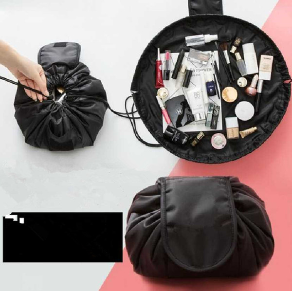 Makeup Bag Travel Cosmetic Bags Brush Pouch Toiletry Kit Women Jewelry Organizer Make Up Carry Case Pencil Holder Portable Cube Purse