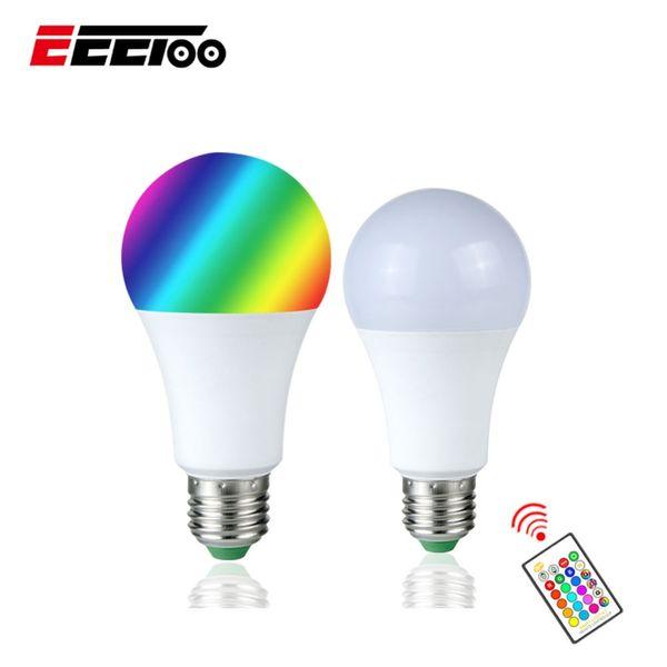 Grosshandel Neue E27 10 Watt 15 Watt Rgb Led Licht Farbwechsel Lampe Mit Ir Fernbedienung Rgbw Rgbww Tischlampe Lampe Wohnkultur Beleuchtung Von