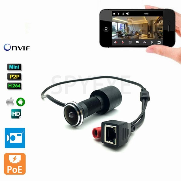 1080P HD Indoor Door Eye Hole H.264 1.78mm Lens Wide Angle 140Degree CCTV Network Mini Peephole POE Door IP Camera P2P Onvif