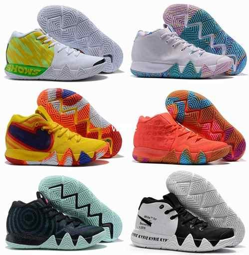 huge discount 334ec 81752 2019 Off Kyrie Irving 4s IV EP 70s 80s 90s Decade Pack Multi Color Uncle  Drew White Irving 4 Mens Basketball Shoes Sport Sneakers 40 46 From Weile,  ...