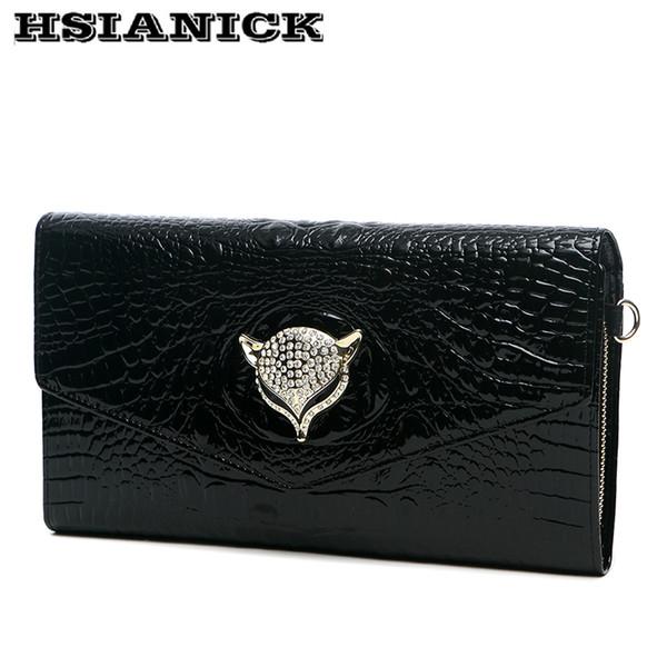 2018 new autumn genuine leather five color envelope clutch bag handbag female bag handbag lady dinner chain evening