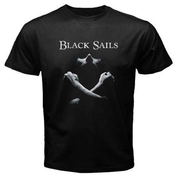 Nueva Black Sails Adventure Series de televisión Camiseta negra para hombre Talla S a 3XL Camiseta de manga corta de algodón Envío gratuito TOP TEE
