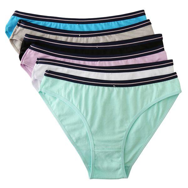 5pcs/lot Sexy Womens Panties Low Waist Cotton Briefs Women Solid Panty Underwear Lingerie Intimates Female M L XL