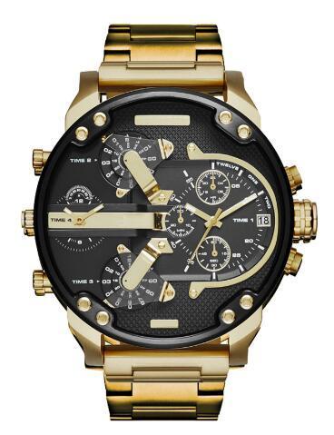 Best-seller Mode Hommes Montres dz De Luxe montres Marque montre homme Hommes Militaire Quartz Poignet Grand cadran montres diamètres 55mm