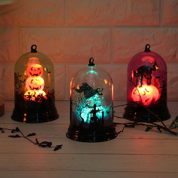 Halloween Holiday Lights Table Lamp Pumpkin Witch Candle Night Lights Desk Bar Christmas Party Decoration Childfren Toy Gifts