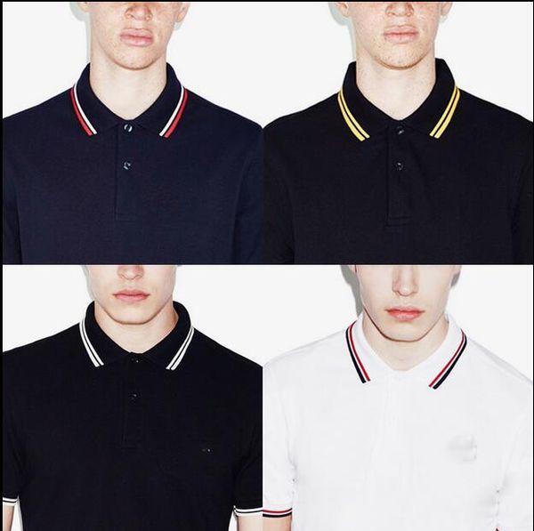 nouvelle marque été hommes polo FRED marque broderie chemise manches courtes tops col rabattu polo vêtements mâle mode casual polo S-3XL