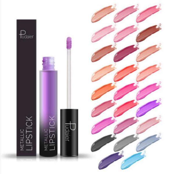 PUDAIER Brand New Matte Liquid Lipstick 26 Colors Waterproof Velvet Nude Purple Black Red Lip Tint Soft Lip gloss Lips Cosmetics