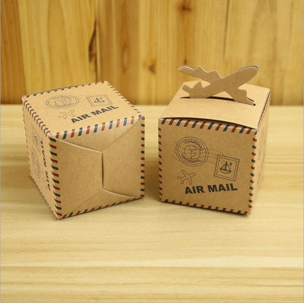 Wedding Favors Gift Box Air Mail Shape Suitcase Candy Box for Wedding Decoration Supplies Chocolate Box Sweet Bags
