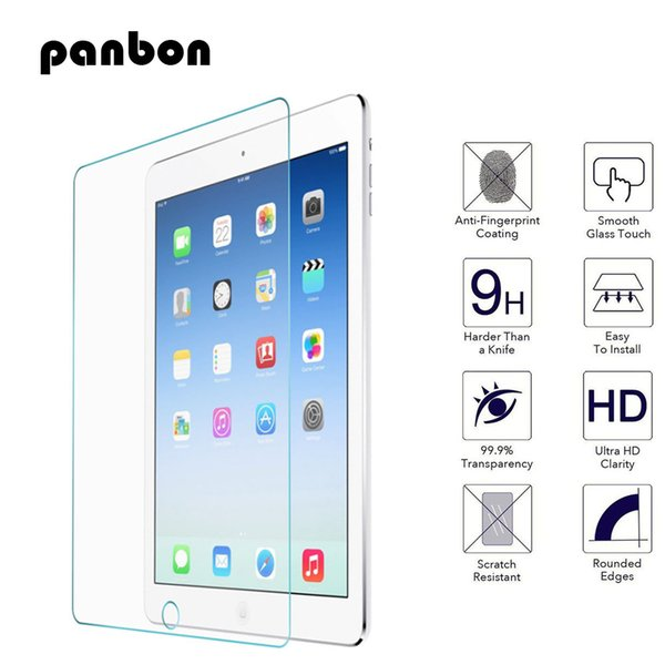 100pcs 2.5D 0.3mm 9H Tempered Glass For Ipad 2 3 4 5 6 Air 1 2 Pro 9.7 10.5 mini 1 3 4 Screen Protector Protective Film