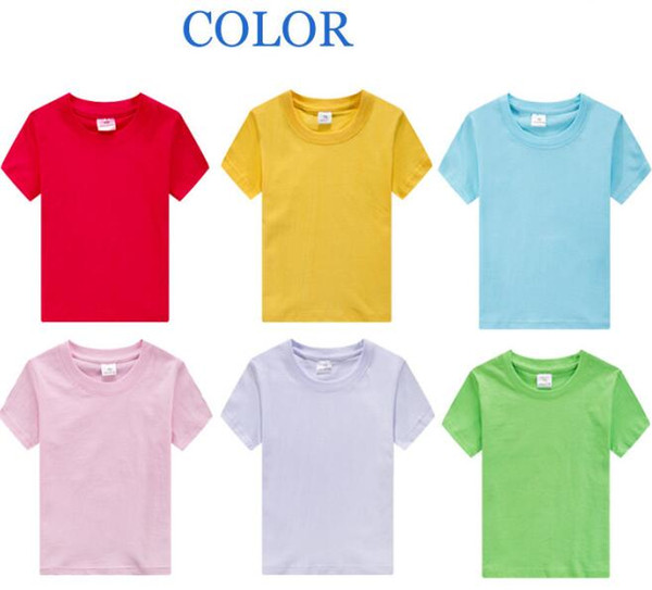 best selling Hot solid shirts boy and girl DIY t-shirts personalized kids children shirt wholesale boutique tees toddle tops shirts free shipping BY0143