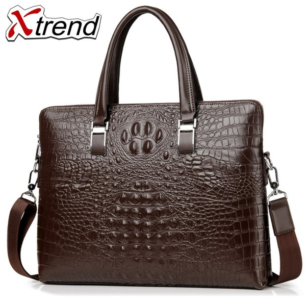 Xtrend Simple Design Leather Men Briefcase With Soft Handle Business Men Document Bag Classic Office Mens Bags Handbag