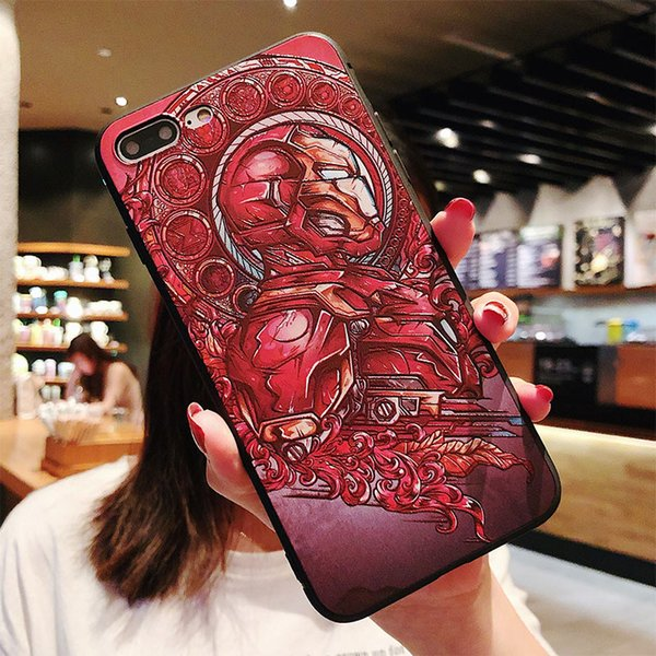For Marvel Captain America Iron Man designer phone case Ultra Thin TPU Phone Cases For iPhone XS MAX XR 6 7 8 S PLUS X Comics Cover