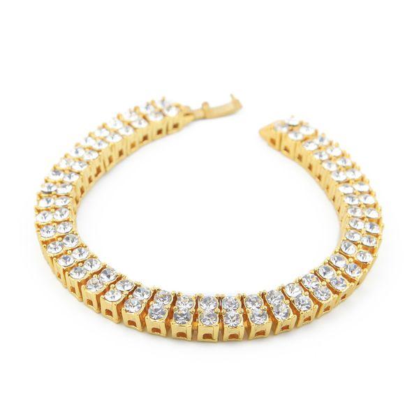 8mm*8inch Zicron Tennis Link Hip Hop Jewelry Bracelet Designer Bracelet Mens Luxury Stainless Steel Jewelry Bangles Love Bracciali