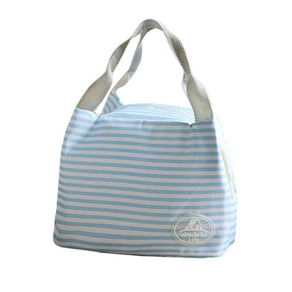 MOLAVE Newe Lunch Bag Insulated Cold Canvas Stripe Picnic Carry Case Thermal Portable Lunch Box Bolsa Termica Lancheira 2Augus16