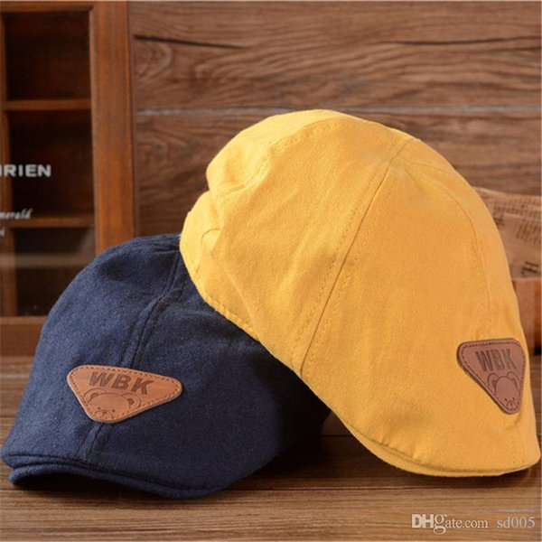 Children Fashion Retro Beret Hat New Summer Outdoor Peaked Cap Pure Color Cotton Casquette For Kids Hot Sale 8gl WW