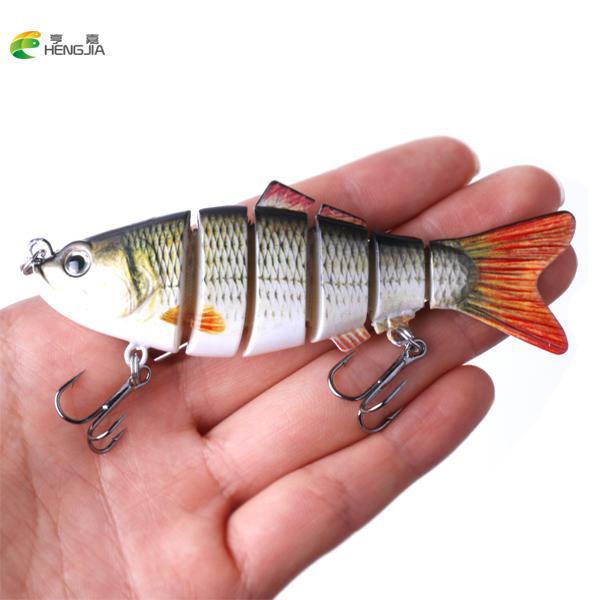 HENGJIA 1PCS 10cm 19g Fishing Wobblers 6 Segments Swimbait Crankbait Fishing Lure Bait with Artificial Hooks Y18100806