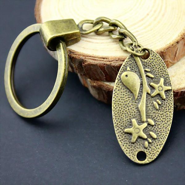 6 Pieces Key Chain Women Key Rings Couple Keychain For Keys Bird 35x19mm