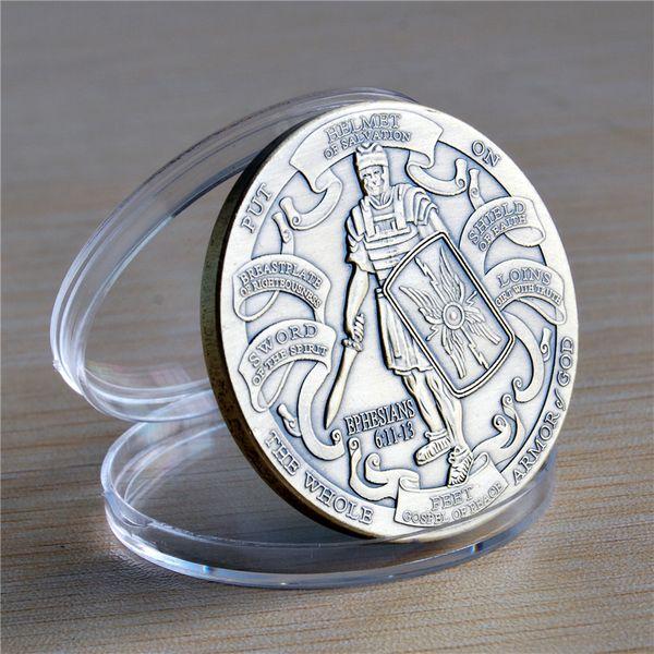 top popular NEW Armor of God High Relief Ephesians 6:11-13 Bronze Challenge Coin. 2019