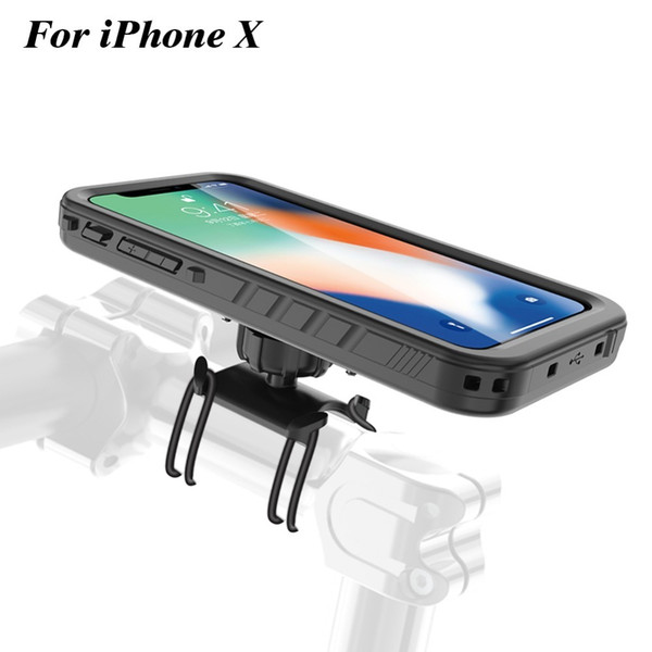 Bike Phone Holder Motorcycle Handlebar Cradle, Bicycle phone Mount for iPhone x shockproof Case GPS support whirl moto stand C18110801
