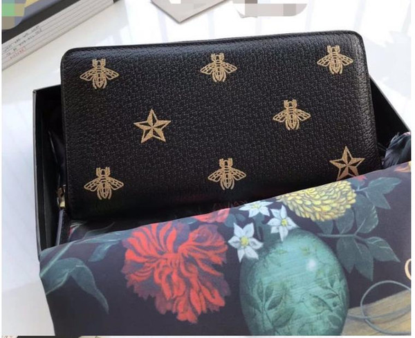 New Women's Men's Popular famous designer brand high-grade wallet lady fashion long zipper hand bag manufacturers selling high quality