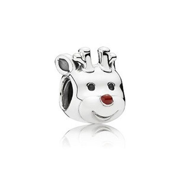 WinTion PAN charme prata 925 original pulseira de luxo com miçangas, enfeites de corda de cão bonito feminino presentes de Natal