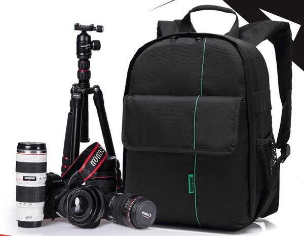 30a6e1c02b58 2019 Fashion Multi Functional SLR Video Digital DSLR Photo Camera Ipad  Shoulders Padded Backpack Bag Case Waterproof Bag For Canon Nikon From ...