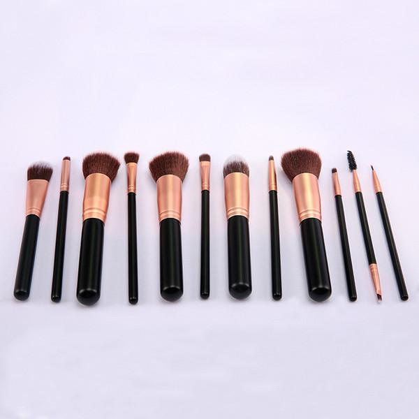 pinceles de maquillaje 12pcs mango de madera