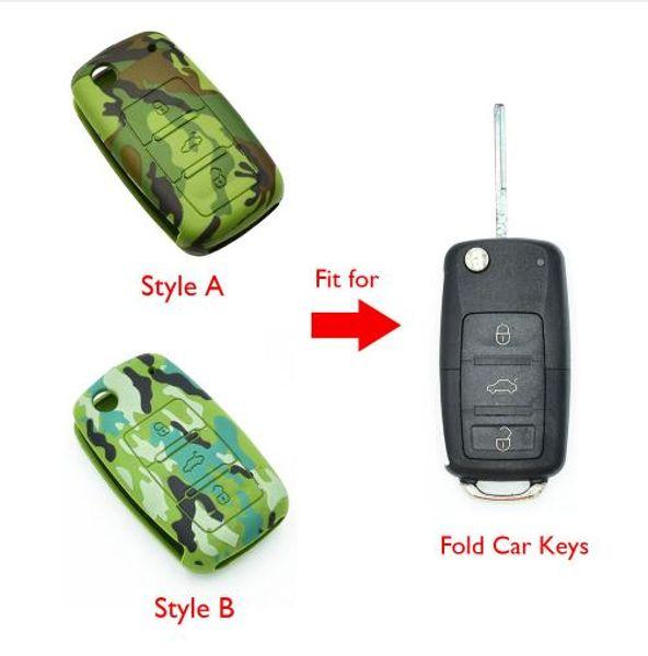 Silicone Car Key Case Cover for VW Volkswagen Golf 4 5 6 Bora Jetta POLO Passat B5 B6 Skoda Superb Octavia Fabia SEAT Ibiza Leon