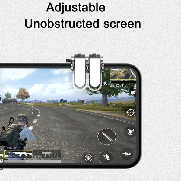 Mobile Phone Gaming Trigger Fire Button Aim Key Button L1 R1 Shooter  Controller For PUBG Six Finger Linkage For Smartphone 4 7' Best Game  Controller