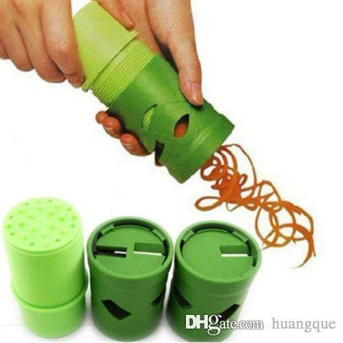 Kitchen Vegetable Fruit Veggie Slicer Julienne Spiral Curly Choppers Cutter