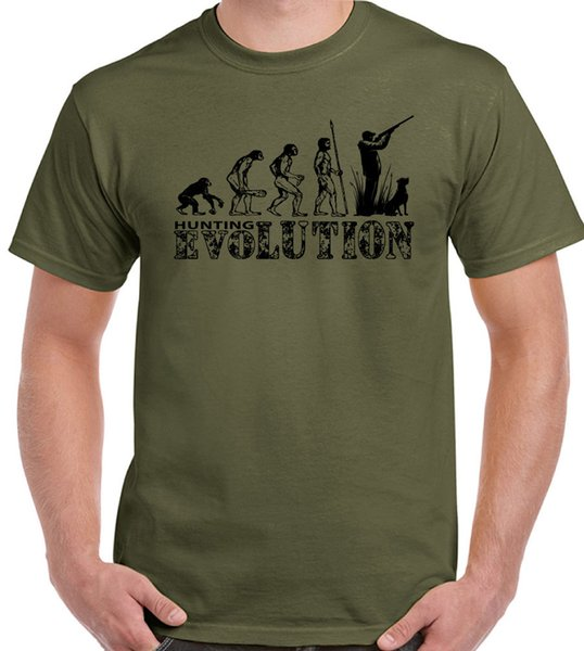 Hunting Evolution Mens Funny T Shirt Hunt Hunter Clay Pigeon Shooting Target Gun Funny Unisex Casual Tshirt Gift Tees Online Print Tees From