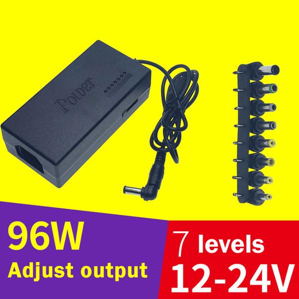 Marka yeni 96 w güç adaptörü 12 ~ 24 V notebook güç kaynağı evrensel ayarlanabilir güç kaynağı çok fonksiyonlu şarj 110 v 240 v adaptörü