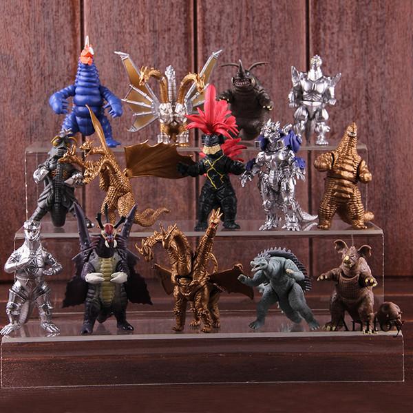 Figura de acción Godzilla King Ghidorah Mechagodzilla Megalon Kamoebas King Caesar PVC Mini Dinosaurio Figuras de colección Modelo de juguete