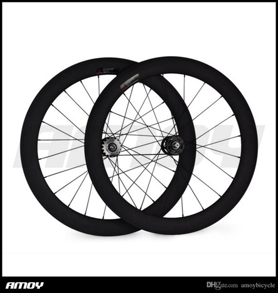 700c 60mm Fixed Gear Tubular UD matte Special Carbon Track Fast Delivery clincher Wheels