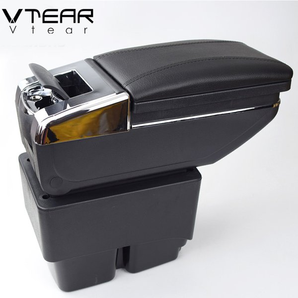 For Ford Fiesta 3 MK7 armrest box Hand switch gear center Storage box interior car-styling products accessory 2009-2014