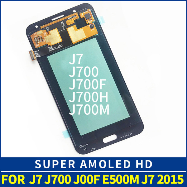 Original 5.5 '' super lcd amouled para samsung galaxy j7 2015 j700j j700f j700m j700h display lcd touch screen digitador assembléia substituição