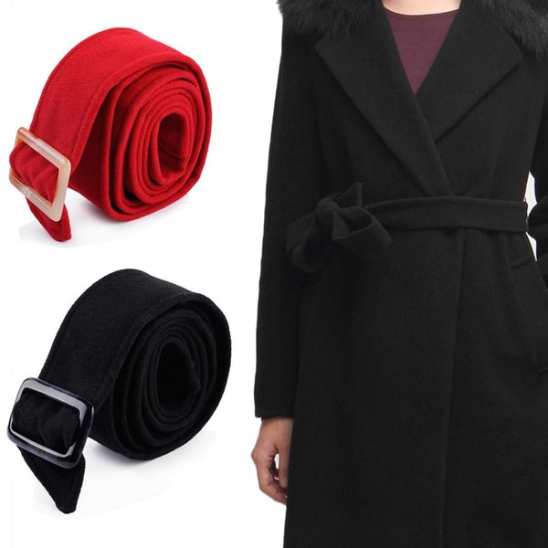 175x5cm Unisex Faux Wolle Gürtel Bund Wrap Woolen Sash Krawatte Mode Wolle Schnallen für Trenchcoat Mantel Zubehör