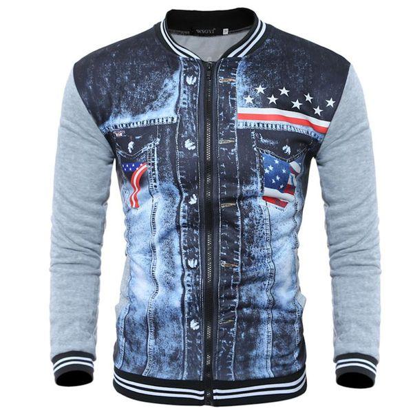 2018 neue Männer Hoodies Reißverschluss Design Herren Jacke Mantel Stehkragen hohe Qualität Männer Winter Druck Sweatshirt Hot-Kleidung NJ