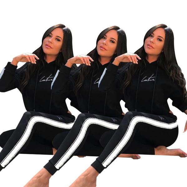 Frauen Sport Anzug Trainingsanzüge Casual Sexy Frauen Halbe Hülsen Tops + Pants Pullover Jogging 2pc Set Damen Sweatsuits Outfit Colthing