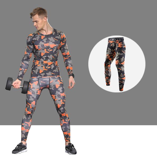 New Quality Men'S Sportswear Fitness Tights Sports Leggings Tracksuit Long Shirt Pant Jiu Jitsu Running Suit Sport Suit Men
