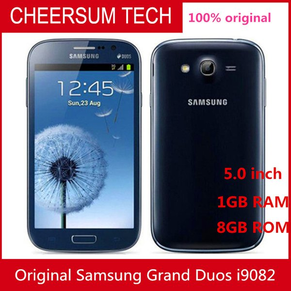 Original Unlocked Samsung Galaxy I9082 Mobile Phone GSM 3G WIFI GPS Dual sim cards 8MP Camera Refurbished Cell phone
