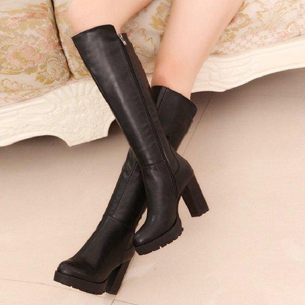 2bbd5083d Ницца Новые женские дождевые сапоги, женские зимние сапоги для сапог Женские  туфли на высоком каблуке