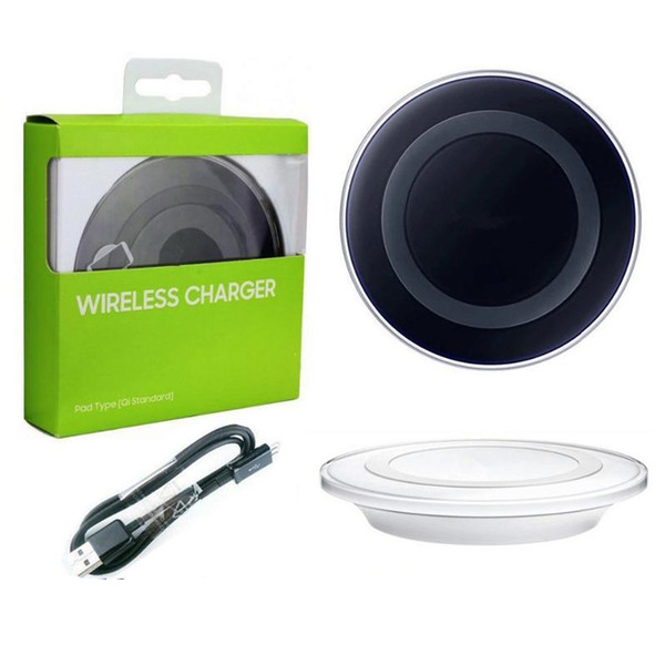 Galaxy S6 Qi Wireless Charger Transmitter Fast Charging Pad For Qi-abled Device Samsung Galaxy S6 Edge with Retail Package Cable