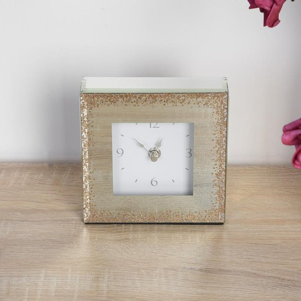 European Style Square Desk Clock Home Sitting Room TV Cabinet Furnishing Decoration Accessories