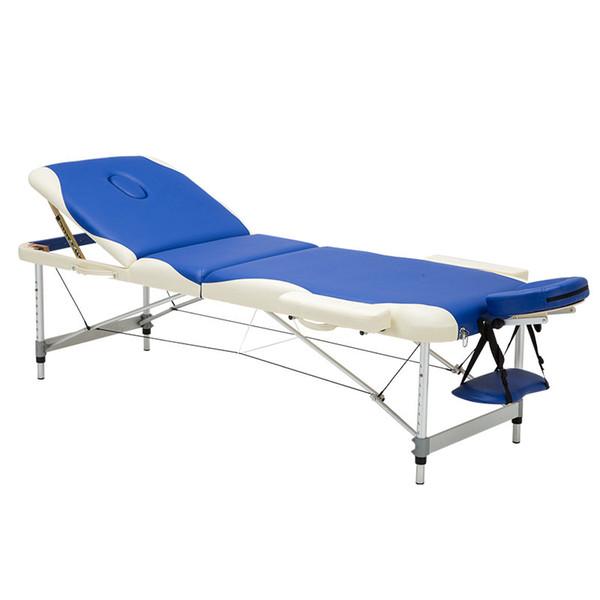 Acheter 3 Fold Professionnel Portable En Aluminium Spa Tables De Massage Pliable Salon Meubles Pliant Lit De Massage Jambes Beauté Table De Massage De