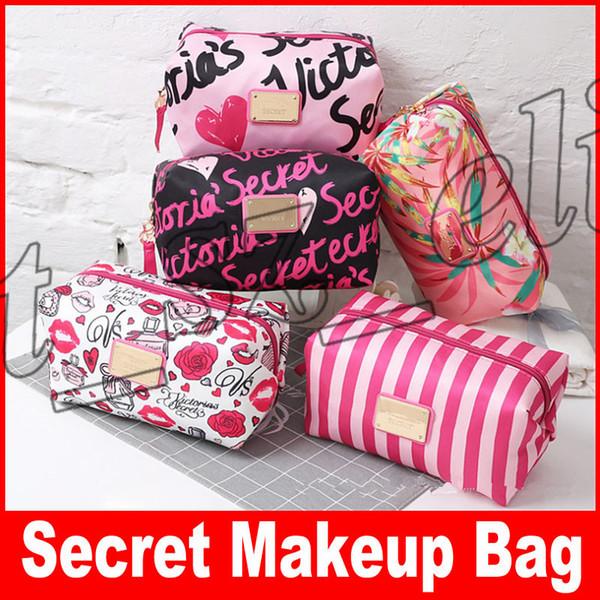 Secret Brand Multifunzionale grande capacità di trucco Borsa da toilette Makeup Organizer sacchetti di stampa primavera per le donne di lavaggio