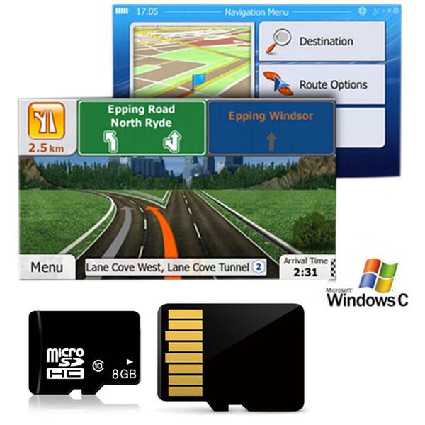 2019 8GB Car GPS Map Micro SD Card USA Canada Mexico North America Gps Mexico Map on