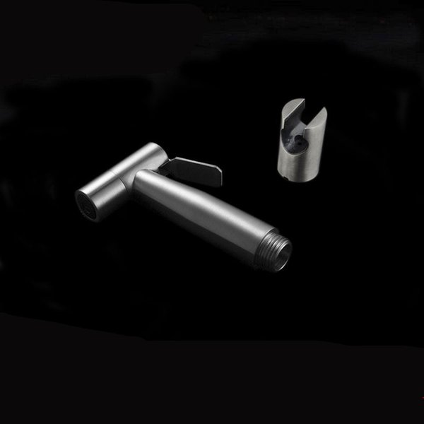 Baño Bidet Pulverizador Pistola de agua de mano con soporte de pared Titular de ducha de acero inoxidable Herramientas de limpieza 30ss WW